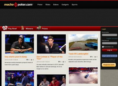 Mainpage on MachoPoker.com