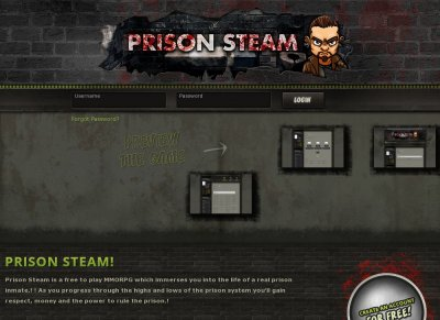 PrisonSteam - Free Browser Based Prison-Style MMORPG