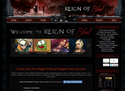 Reign Of Blood -  A Free Vampire Based RPG