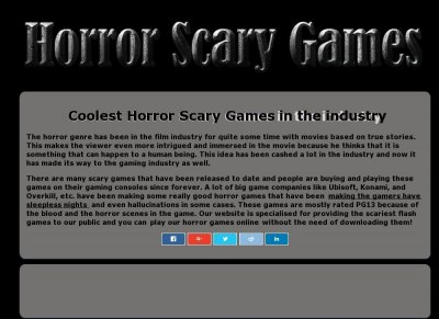 Horror Scary Games