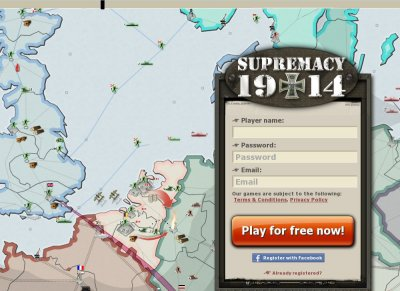 Supremacy 1914 is a free online multi player real time strategy game