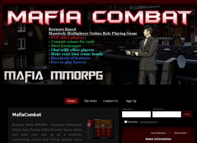 MafiaCombat - Massive Multiplayer Online Role Playing Game - Login