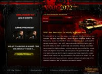 War2072, a Post-Apocalyptic RPG Massive Multiplayer Online Game