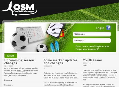 OneSkill Manager - Football Manager game