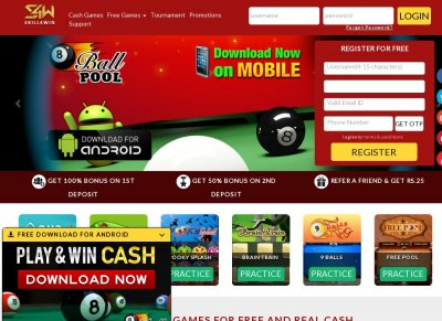 Play online 8 ball pool game for real cash - Skill4Win