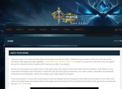 WoW-Mania  WotLK  Blizzlike  PvE  PvP  3.3.5a